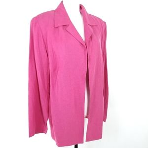 Josephine Chaus Silk & Linen Open Jacket